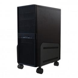Newstar CPU-M100 Keskusyksikköteline pyöräalustalla Musta