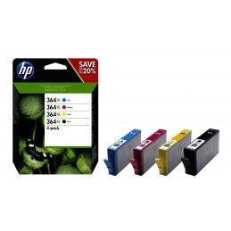 HP 364XL mustekasetti Alkuperäinen Korkea (XL) värintuotto Musta, Syaani, Magenta, Keltainen