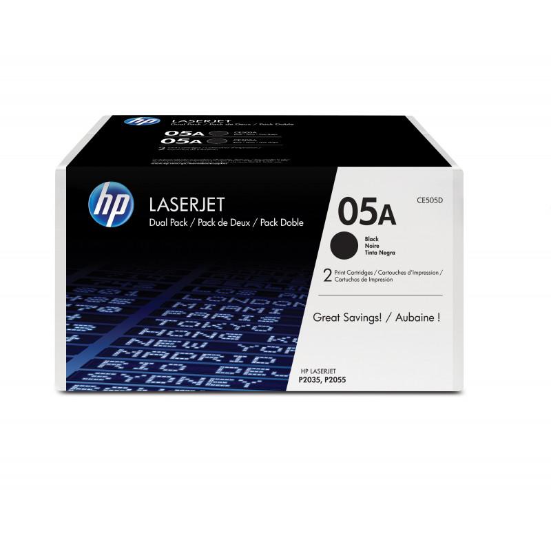 HP 05A värikasetti 2 kpl Alkuperäinen Musta