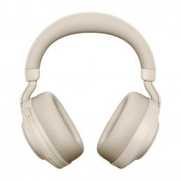 Jabra Evolve2 85, MS Stereo Kuulokkeet Pääpanta 3,5 mm liitin USB Type-C Bluetooth Beige