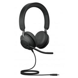Jabra Evolve2 40, MS Stereo Kuulokkeet Pääpanta USB Type-C Musta