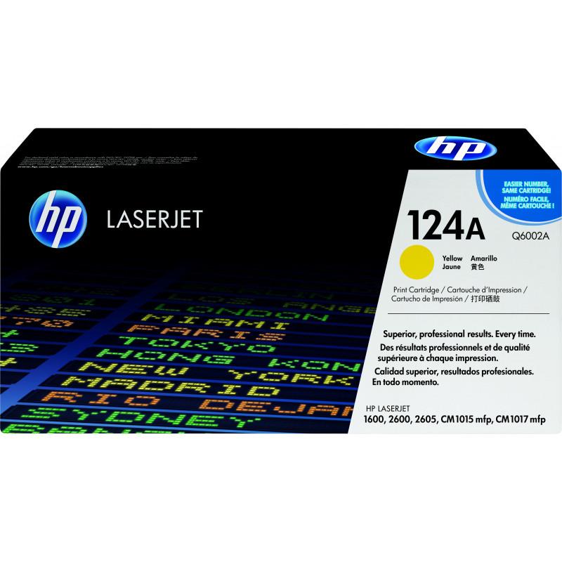 HP 124A värikasetti 1 kpl Alkuperäinen Keltainen