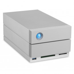 LaCie 2big Dock Thunderbolt 3 levyjärjestelmä 20 TB Työpöytä Harmaa