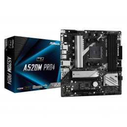 Asrock A520M Pro4 Kanta AM4 mikro ATX