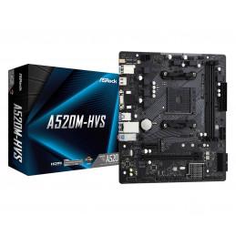 Asrock A520M-HVS AMD A520 Kanta AM4 mikro ATX