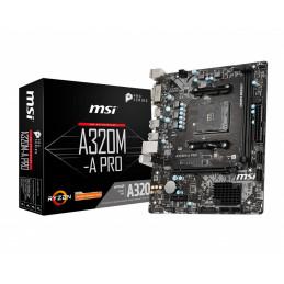 MSI A320M-A PRO emolevy AMD A320 Kanta AM4 mikro ATX