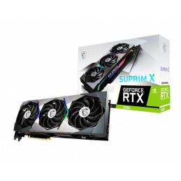 MSI RTX 3080 SUPRIM X 10G LHR näytönohjain NVIDIA GeForce RTX 3080 10 GB GDDR6X