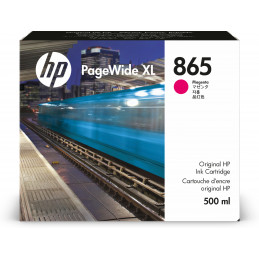 HP 865 500-ml Magenta PageWide XL Ink Cartridge