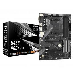 Asrock B450 Pro4 R2.0 AMD B450 Kanta AM4 ATX