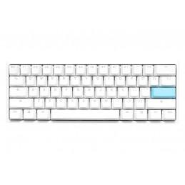 Ducky One 2 Mini Pure White RGB näppäimistö USB QWERTY englanti Valkoinen, Sininen