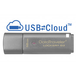 Kingston Technology DataTraveler Locker+ G3 16GB USB-muisti USB A-tyyppi 3.2 Gen 1 (3.1 Gen 1) Hopea