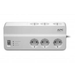 APC PM6-GR ylijännitesuoja Valkoinen 6 AC-pistorasia(a) 230 V 2 m