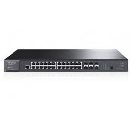 TP-LINK T3700G-28TQ Hallittu L3 Gigabit Ethernet (10 100 1000) 1U Musta