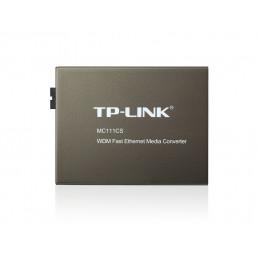 TP-LINK MC111CS verkon mediamuunnin 1000 Mbit s 1550 nm Yksittäistila Musta