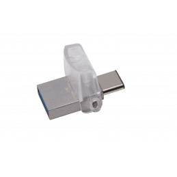 Kingston Technology DataTraveler microDuo 3C 32GB USB-muisti USB Type-A   USB Type-C 3.2 Gen 1 (3.1 Gen 1) Hopea