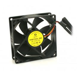 SilentiumPC Mistral 80 Tietokonekotelo Tuuletin 8 cm Musta