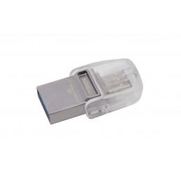 Kingston Technology DataTraveler microDuo 3C 128GB USB-muisti USB Type-A   USB Type-C 3.2 Gen 1 (3.1 Gen 1) Hopea