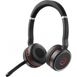Jabra Evolve 75 MS Stereo Kuulokkeet Pääpanta Bluetooth Musta, Punainen