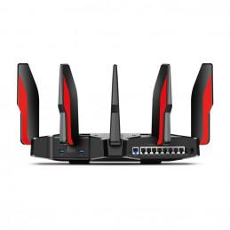 TP-LINK Archer C5400X langaton reititin Gigabitti Ethernet Kolmikaista (2,4 GHz 5 GHz 5 GHz) Musta, Punainen
