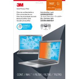 3M Kullanvärinen Tietoturvasuoja kannettavien tietokoneiden 14-tuumaisiin laajanäyttöihin
