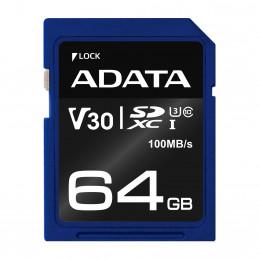 ADATA ASDX64GUI3V30S-R flash-muisti 64 GB SDXC UHS-I Luokka 10