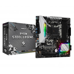 Asrock B450M Steel Legend AMD B450 Kanta AM4 mikro ATX