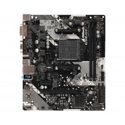 Asrock B450M-HDV R4.0 AMD B450 Kanta AM4 mikro ATX