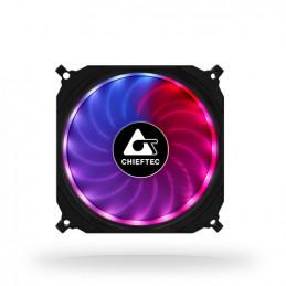 Chieftec CF-1225RGB tietokoneen jäähdytyskomponentti Tietokonekotelo Tuuletin 12 cm Musta