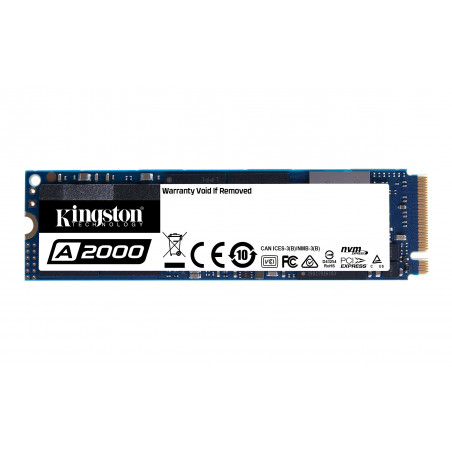 Kingston Technology A2000 M.2 1000 GB PCI Express 3.0 3D NAND NVMe