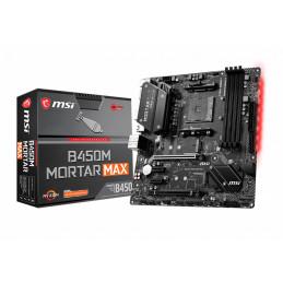 MSI B450M Mortar Max AMD B450 Kanta AM4 mikro ATX