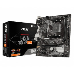 MSI B450M PRO-M2 MAX emolevy AMD B450 Kanta AM4 mikro ATX