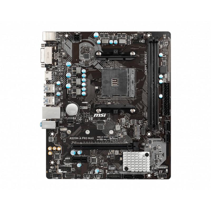MSI A320M-A PRO MAX emolevy AMD A320 Kanta AM4 mikro ATX