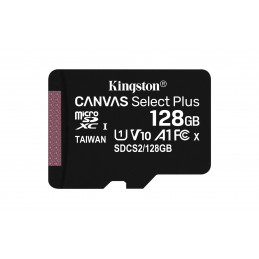 Kingston Technology Canvas Select Plus flash-muisti 128 GB MicroSDXC UHS-I Luokka 10