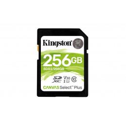 Kingston Technology Canvas Select Plus flash-muisti 256 GB SDXC UHS-I Luokka 10