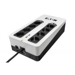 Eaton 3S850D UPS-virtalähde Valmiustila (ilman yhteyttä) 850 VA 510 W 8 AC-pistorasia(a)